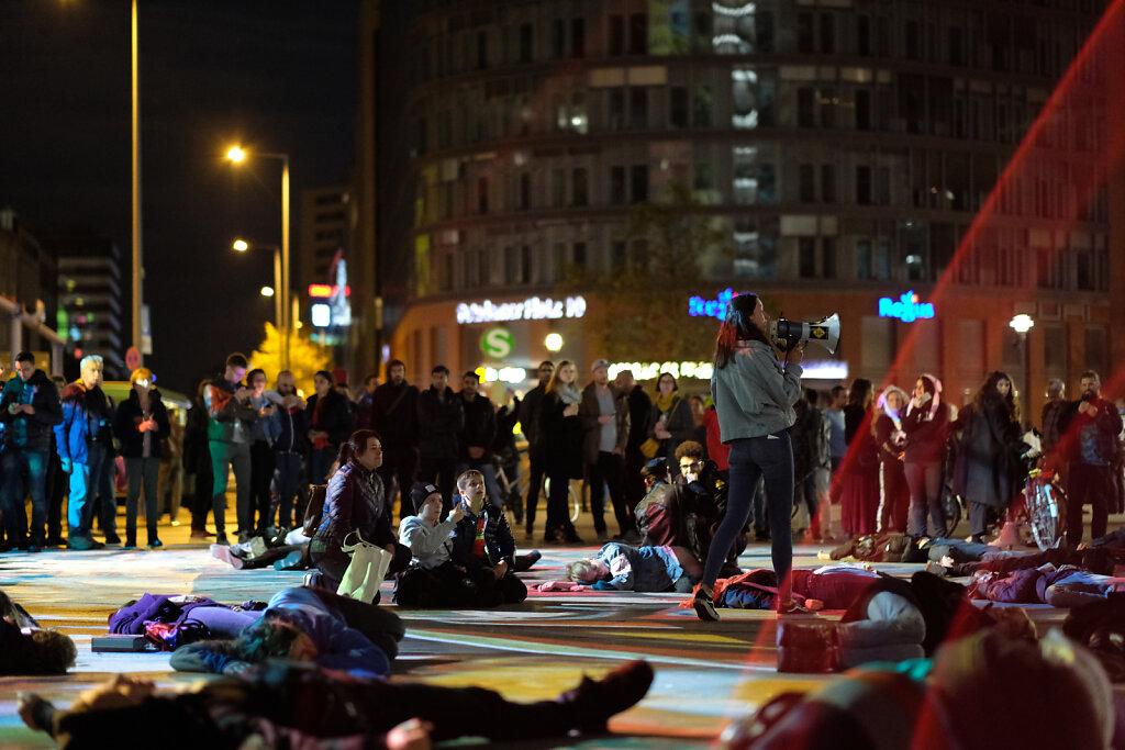 Berlin Festival of Lights - Extinction Rebellion Protests