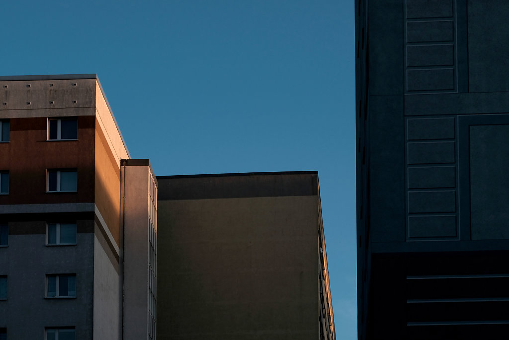 Light Hitting The Buildings
