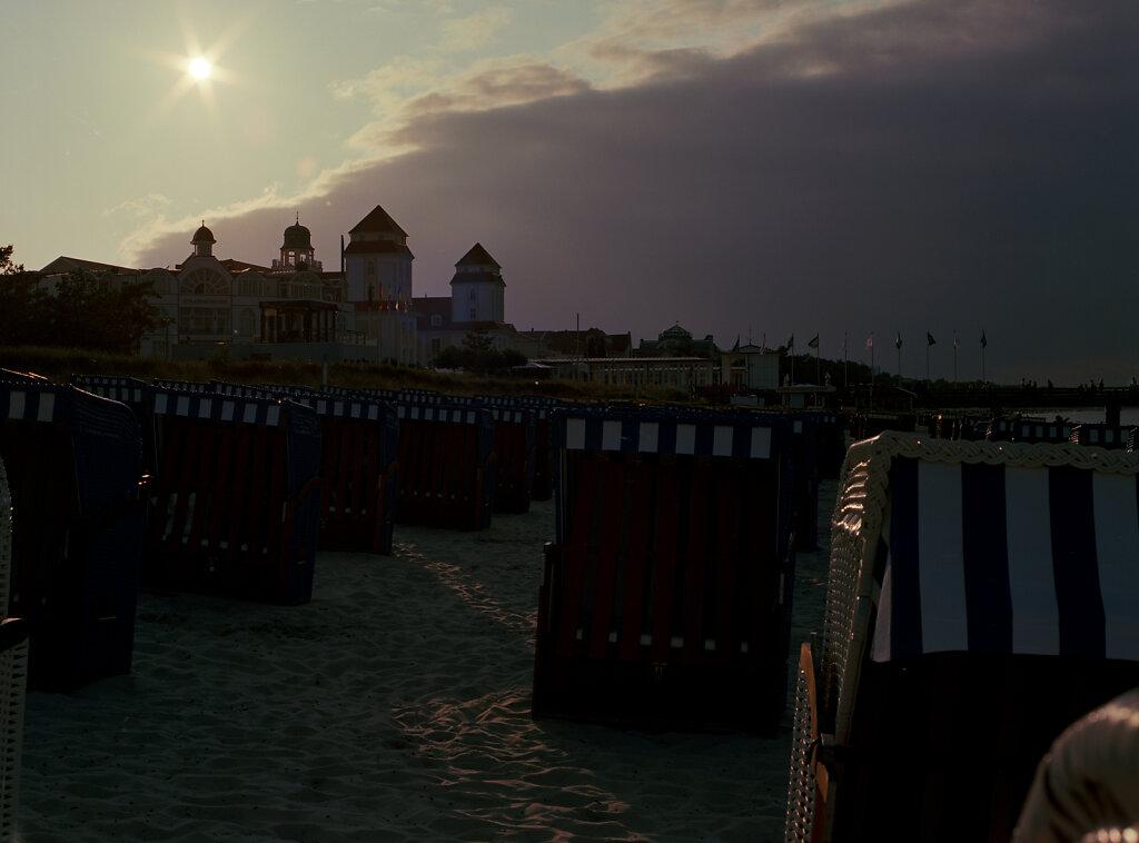 Besetzter Strand